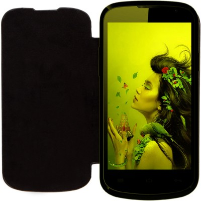 Edge Flip Cover for LAVA Iris 458Q Black available at Flipkart for Rs.299