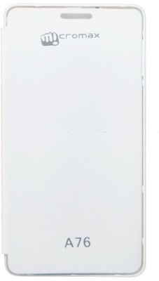 Case-M Flip Cover for Micromax Canvas Fun A76 White