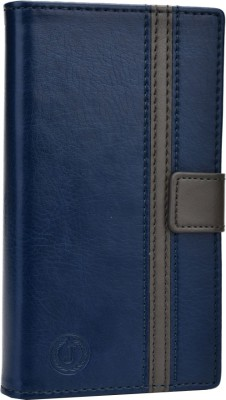 Jojo Flip Cover for iBall Andi 5h Quadro Dark Blue, Grey available at Flipkart for Rs.690