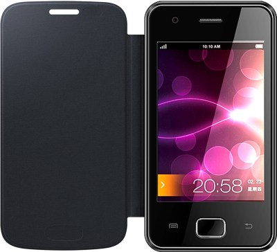 APE Flip Cover for Karbonn A50 Black available at Flipkart for Rs.129