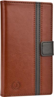 Jojo Flip Cover for iBall Andi 5h Quadro Dark Brown, Grey available at Flipkart for Rs.690