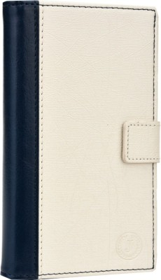 Jojo Flip Cover for iBall Andi 5h Quadro Dark Blue, White available at Flipkart for Rs.690