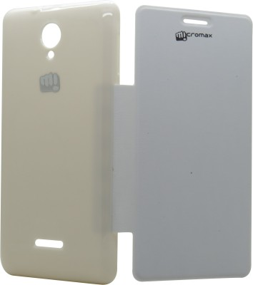 Snooky Flip Cover for Micromax Canvas Fun / A76 White