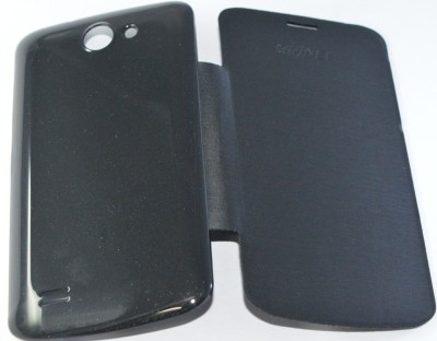 Icod9 Flip Cover for Gionee Pioneer P3 Black available at Flipkart for Rs.190