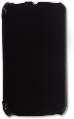 CaseCart Flip Cover for Gionee CTRL V1 Black available at Flipkart for Rs.249