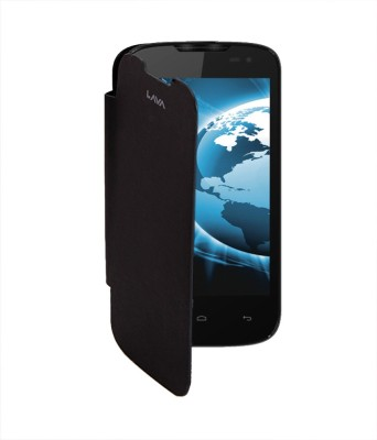 RDcase Flip Cover for Lava iris 402 Black available at Flipkart for Rs.99