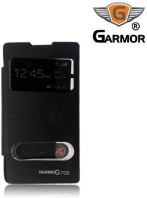 Garmor Flip Cover for Huawei Ascend G700 Black available at Flipkart for Rs.399