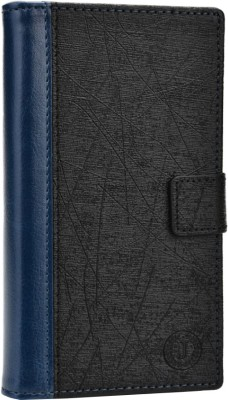 JoJo Flip Cover for iBall Andi 5h Quadro Dark Blue, Black available at Flipkart for Rs.690