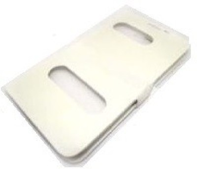 YGS Flip Cover for Micromax A116 Canvas HD White