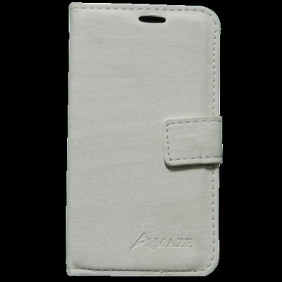 Amaze Mobile Flip Cover for Samsung?Galaxy Grand Quattro I8552 White