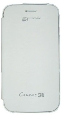 Casotec Flip Cover for Micromax Superfone Canvas 3D A115 White