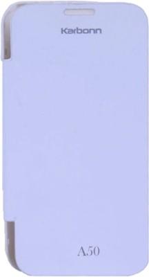 Skyy Flip Cover for Karbonn A50 White available at Flipkart for Rs.199