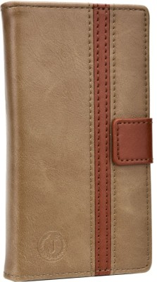 Jojo Flip Cover for iBall Andi 5h Quadro Light Brown, Dark Brown available at Flipkart for Rs.690