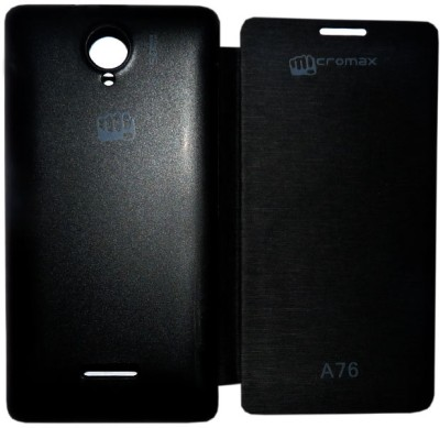 Canvas Flip Cover for Micromax Canvas Fun A76 Black available at Flipkart for Rs.155