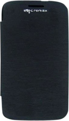 Chevron Flip Cover for Micromax Superfone Canvas 3D A115 Black