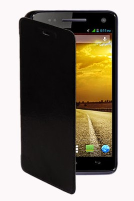 G4U Flip Cover for Xolo A800 Black available at Flipkart for Rs.299