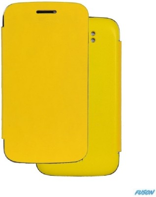 Fuson Flip Cover for Xolo Q900 Yellow available at Flipkart for Rs.499