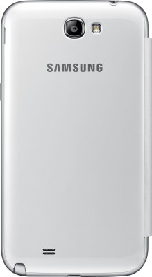 Samsung Flip Cover for Samsung Galaxy Note 2 N7100 White available at Flipkart for Rs.179