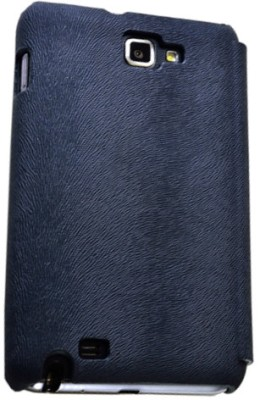 Rock 9220-3358 Big City Leather Case Side Flip for Samsung Galaxy Note - Dark Blue