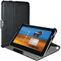 Amzer 93678 Shell Portfolio Leather Texture Case For Samsung Galaxy Tab 750 / 710 - Black