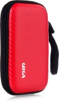 GIZGA Pouch For GIZGA Branded 2.5 Inch Carbon Fiber Mesh Series - Color: Red; External Portable Hard Disk Drive Carry Cover Protector/ Pouch / Bag/HDD Case (Red)