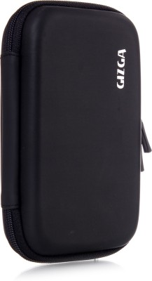 GIZGA Pouch For GIZGA Branded 2.5 Inch HARD SHELL - Color: Black; Series External Portable Hard Disk Drive Carry Cover Protector/ Pouch / Bag/ HDD Case (Black)