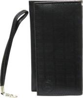 Jojo Wallet Case Cover For Spice M 5500 (Black)