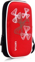 GIZGA Pouch For GIZGA Branded 2.5 Inch Wavy Graffiti Series - Color: Red; External Portable Hard Disk Drive Carry Cover Protector/ Pouch / Bag/ HDD Case (Red)