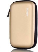 Gizga Pouch For GIZGA Branded 2.5 Inch HARD SHELL - Color: Gold; Series External Portable Hard Disk Drive Carry Cover Protector/ Pouch / Bag/ HDD Case (Gold)