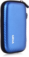 GIZGA Pouch For GIZGA Branded 2.5 Inch Carbon Fiber Mesh Series - Color: Blue; External Portable Hard Disk Drive Carry Cover Protector/ Pouch / Bag/HDD Case (Blue)