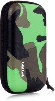 GIZGA Pouch For GIZGA Branded 2.5 Inch HARD SHELL - Color: Green Camouflage Series, External Portable Hard Disk Drive Carry Cover Protector/ Pouch / Bag/HDD Case (Green)