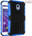 Mobier Grip Back Cover For Motorola Moto G3 (3rd Gen.), Motorola G Turbo Edition (Blue, Black)