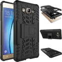 Chevron Shock Proof Case For Samsung Galaxy On7 (Space Black)