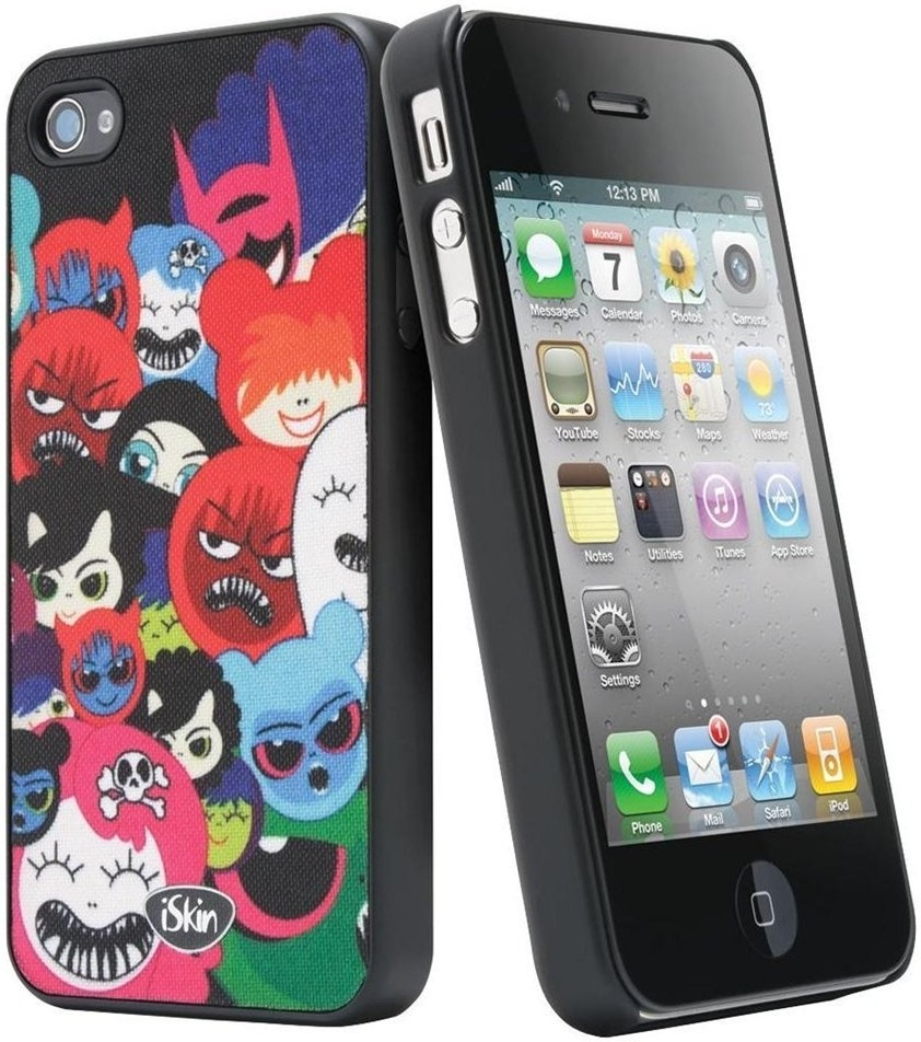 iSkin Grip Back Cover for iPhone 4, 4S