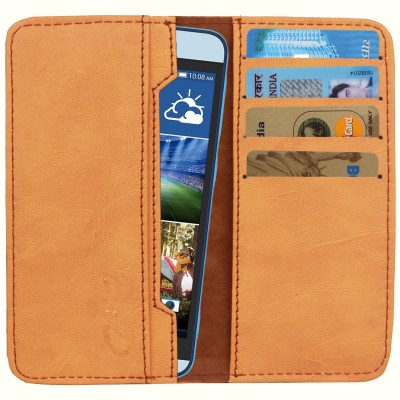 D.rD Wallet Case Cover for Videocon A45 Orange available at Flipkart for Rs.309