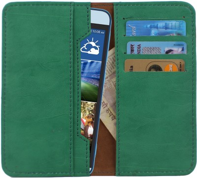 D.rD Wallet Case Cover for Videocon A45 Green available at Flipkart for Rs.309