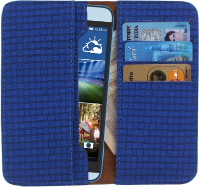 D.rD Wallet Case Cover for Videocon A45 Blue available at Flipkart for Rs.309