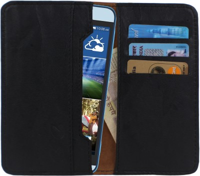 D.rD Wallet Case Cover for Videocon A45 Black available at Flipkart for Rs.309