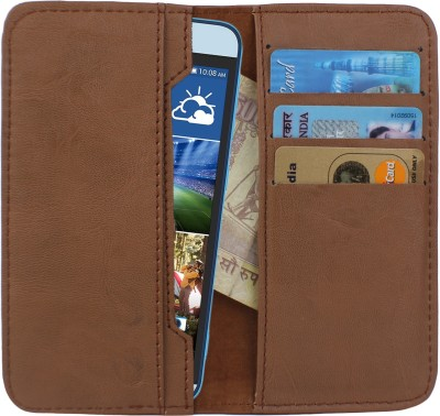 D.rD Wallet Case Cover for Videocon A45 Brown available at Flipkart for Rs.309