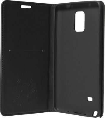 Samsung Lishen Wallet Case Cover For Samsung Galaxy Note 4 N910 (Black)