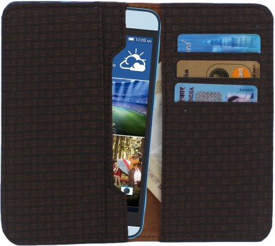 D.rD Wallet Case Cover for Videocon A45 Dark Brown available at Flipkart for Rs.309