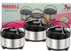 Maxell Chef Hot Pot Trivial Pack Pack of 3 Casserole Set