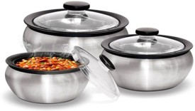 Milton Clearsteel003 Pack of 3 Casserole