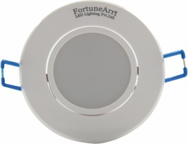 FortuneArrt 5 W Round LED Downlight (White) X5 Range Recessed Ceiling Lamp