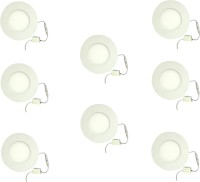 Galaxy 3 Watt Led Panel Light Round,Cool White With 2 Years Warranty Set Of 8 Recessed Ceiling Lamp