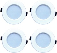 Bene Bene LED 6w Round Ceiling Light, Color Of LED Red (Pack Of 4 Pcs) Recessed Ceiling Lamp
