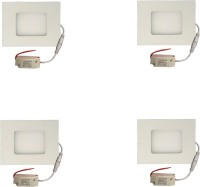 Galaxy Galaxy 3 Watt Led Panel Light Square,Cool White With 2 Years Warranty Set Of 4 Recessed Ceiling Lamp