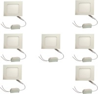 Galaxy Galaxy 6 Watt Led Panel Light Square,Cool White With 2 Years Warranty Set Of 7 Recessed Ceiling Lamp