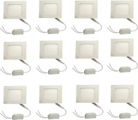 Galaxy Galaxy 6 Watt Led Panel Light Square,Cool White With 2 Years Warranty Set Of 12 Recessed Ceiling Lamp