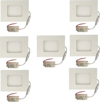 Galaxy Galaxy 3 Watt Led Panel Light Square,Cool White With 2 Years Warranty Set Of 7 Recessed Ceiling Lamp